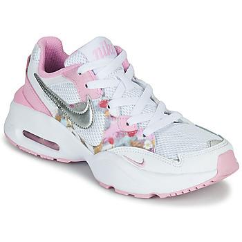 Buty Dziewczynka Trampki niskie Nike AIR MAX FUSION SE GS Biały / Różowy