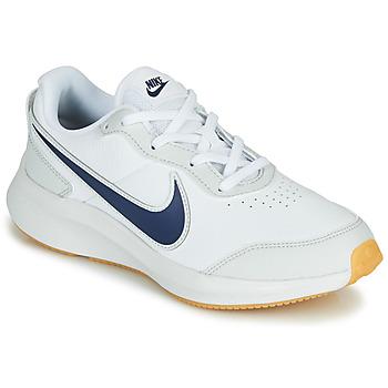 Buty Chłopiec Trampki niskie Nike VARSITY LEATHER GS Biały / Niebieski