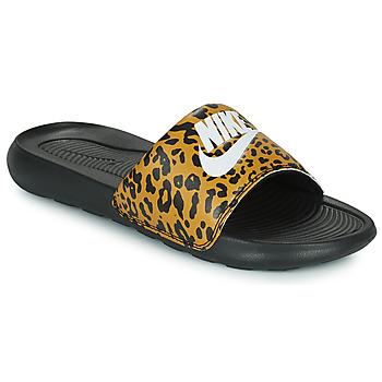 Buty Damskie klapki Nike Nike Victori Print (Name Not Legal) Brązowy / Czarny