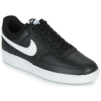 Buty Męskie Trampki niskie Nike COURT VISION LOW Czarny / Biały