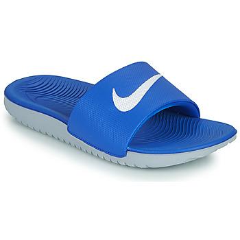 Buty Dziecko klapki Nike KAWA GS Niebieski / Biały