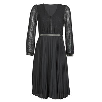 tekstylia Damskie Sukienki krótkie One Step FR30061 Czarny