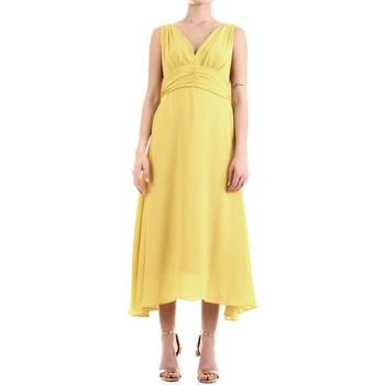 tekstylia Damskie Sukienki długie Fly Girl 9845-01 Żółty