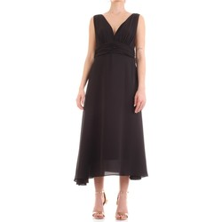tekstylia Damskie Sukienki długie Fly Girl 9845-01 Czarny