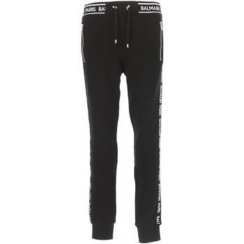 tekstylia Męskie Spodnie dresowe Balmain RH15631 Czarny