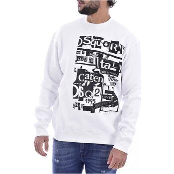 tekstylia Męskie Bluzy Dsquared S74GU0305 Biały