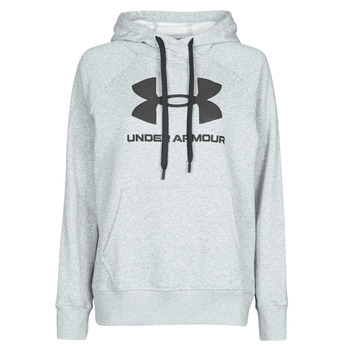 tekstylia Damskie Bluzy Under Armour RIVAL FLEECE LOGO Szary