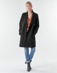 tekstylia Damskie Płaszcze Esprit LL* BASICBLZRCT Czarny
