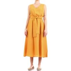 tekstylia Damskie Sukienki długie Fly Girl 9890-02 Żółty