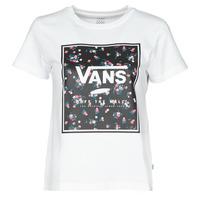 tekstylia Damskie T-shirty z krótkim rękawem Vans BOXED IN BOXY Biały