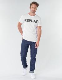 tekstylia Męskie Jeansy straight leg Replay GROVER Niebieski / Fonce