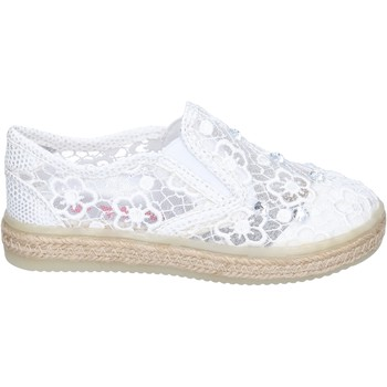 Buty Dziewczynka Tenisówki Asso slip on tessuto Bianco