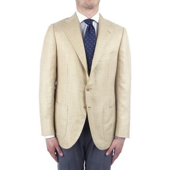tekstylia Męskie Kurtki / Blezery Cesare Attolini S20MA43 Żółty