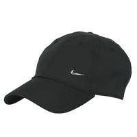 Dodatki Czapki z daszkiem Nike U NSW H86 METAL SWOOSH CAP Czarny / Srebrny