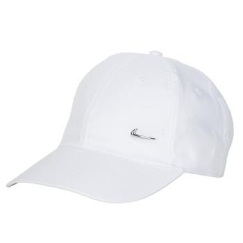 Dodatki Czapki z daszkiem Nike U NSW H86 METAL SWOOSH CAP Biały / Srebrny