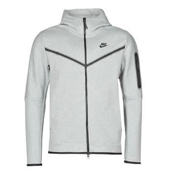 tekstylia Męskie Bluzy dresowe Nike M NSW TCH FLC HOODIE FZ WR Szary / Czarny