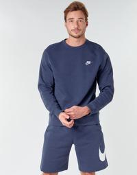 tekstylia Męskie Bluzy Nike M NSW CLUB CRW BB Niebieski