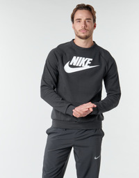 tekstylia Męskie Bluzy Nike M NSW MODERN CRW FLC HBR Czarny / Biały