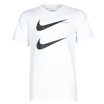 tekstylia Męskie T-shirty z krótkim rękawem Nike M NSW SS TEE SWOOSH PK 2 Biały