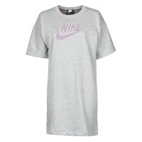 tekstylia Damskie Sukienki krótkie Nike W NSW DRESS FT M2Z Szary