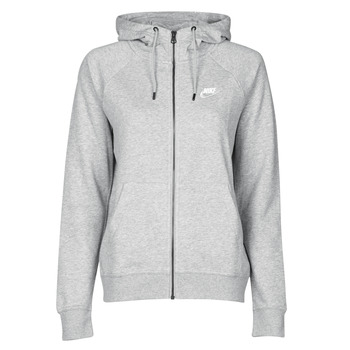tekstylia Damskie Bluzy Nike W NSW ESSNTL HOODIE FZ FLC Szary