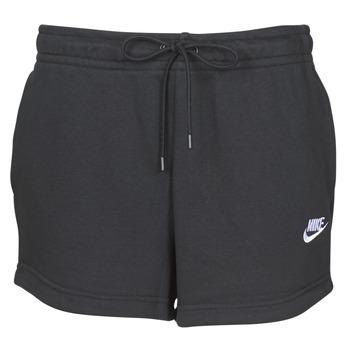 tekstylia Damskie Szorty i Bermudy Nike W NSW ESSNTL SHORT FT Czarny