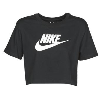 tekstylia Damskie T-shirty z krótkim rękawem Nike W NSW TEE ESSNTL CRP ICN FTR Czarny