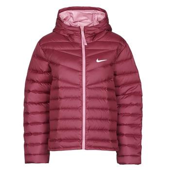 tekstylia Damskie Kurtki pikowane Nike W NSW WR LT WT DWN JKT Bordeaux