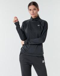 tekstylia Damskie T-shirty z długim rękawem Nike W NK PACER HZ Czarny