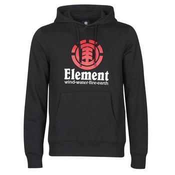 tekstylia Męskie Bluzy Element VERTICAL HOOD Czarny