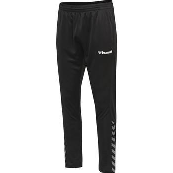 tekstylia Spodnie dresowe Hummel Pantalon  hmlAUTHENTIC Poly noir/blanc