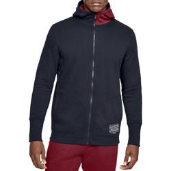 tekstylia Męskie Bluzy Under Armour Baseline Fleece FZ Hoodie 1343006-002 Czarne