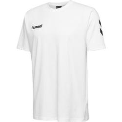 tekstylia Dziecko T-shirty z krótkim rękawem Hummel T-shirt enfant  hmlGO cotton blanc