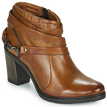 Buty Damskie Low boots Dream in Green NEGUS Camel