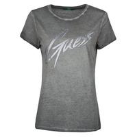 tekstylia Damskie T-shirty z krótkim rękawem Guess SS CN IVONNE TEE Czarny