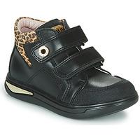 Buty Dziewczynka Trampki wysokie Pablosky 490611 Czarny / Leopard