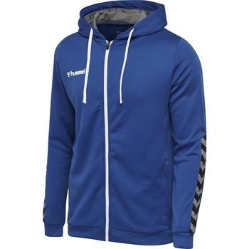 tekstylia Dziecko Bluzy Hummel Sweatshirt enfant  zip hmlAUTHENTIC Poly bleu