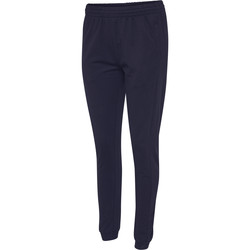 tekstylia Damskie Spodnie dresowe Hummel Pantalon femme  hmlGO cotton bleu marine