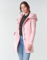 tekstylia Damskie Płaszcze Moony Mood NANTE Różowy