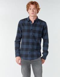 tekstylia Męskie Koszule z długim rękawem Only & Sons ONSGUDMUND Marine / Czarny
