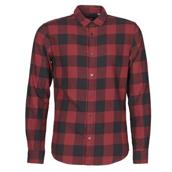 tekstylia Męskie Koszule z długim rękawem Only & Sons ONSGUDMUND Bordeaux / Czarny