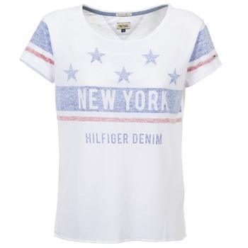 tekstylia Damskie T-shirty z krótkim rękawem Tommy Jeans PHIEBY Biały