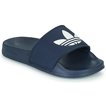 Buty Dziecko klapki adidas Originals ADILETTE LITE J Marine / Biały