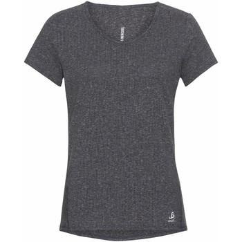 tekstylia Damskie T-shirty z krótkim rękawem Odlo T-shirt femme  Lou Linencool gris