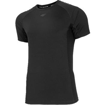 tekstylia Męskie T-shirty z krótkim rękawem 4F Men's Functional T-shirt H4L20-TSMF018-20S Czarne