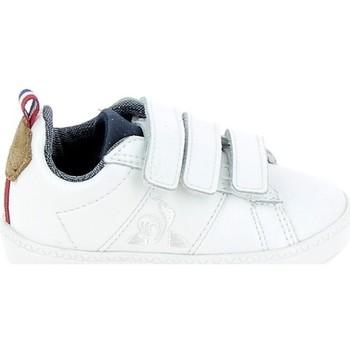 Buty Dziecko Trampki niskie Le Coq Sportif Courtclassic BB Blanc Marron Biały