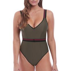 tekstylia Damskie Kostium kąpielowy jednoczęściowy Freya AS6826 KHI Zielony