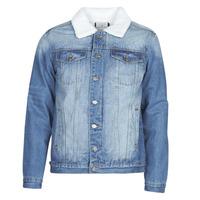 tekstylia Męskie Kurtki jeansowe Casual Attitude NOARO Niebieski / Medium