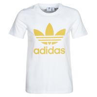 tekstylia Damskie T-shirty z krótkim rękawem adidas Originals TREFOIL TEE Biały