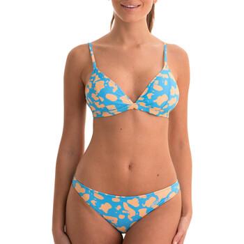 tekstylia Damskie Kostium kąpielowy dwuczęściowy Back Bloom BB200 BLEU Niebieski
